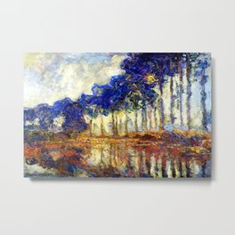 Monet : Poplars on the Banks of the River Epte, 1891 Metal Print
