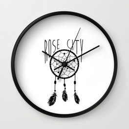Rose City Dream Wall Clock
