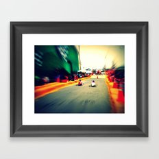 Race Framed Art Print