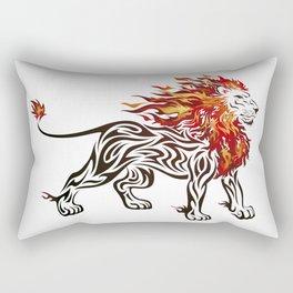 Lion of Fire Rectangular Pillow