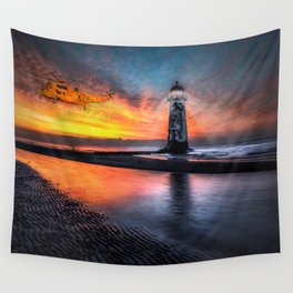 Lighthouse Rescue Wall Tapestry