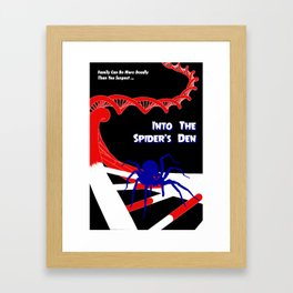 Pulp-Style Novel Cover - Into the Spider's Den Framed Art Print