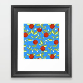 Orange Grove Pattern Framed Art Print