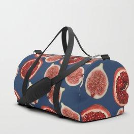 Figs - Pomegranate - blue Duffle Bag