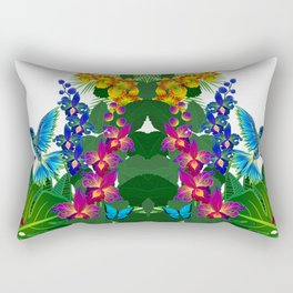 Tropical Hummingbird Pattern 1 Rectangular Pillow