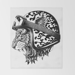 Tiger Helm Throw Blanket