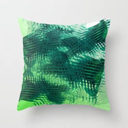 Crossing Greens Throw Pillow