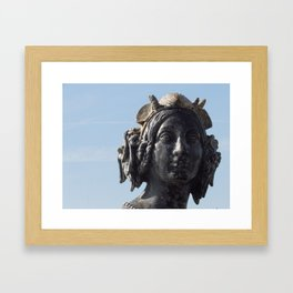Mermaid in Paris Portrait Framed Art Print