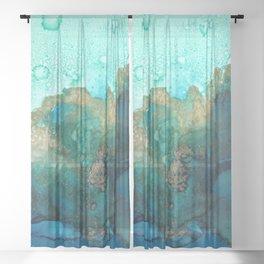 Sky and Ocean Sheer Curtain
