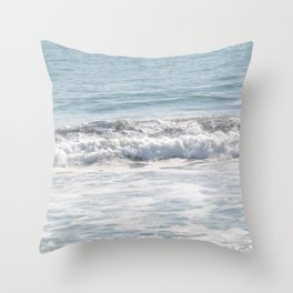 TEXTURES -- Surf   at San Clemente Throw Pillow