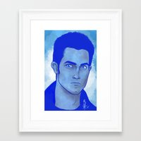 derek hale Framed Art Prints featuring Derek Hale by Mel Darling