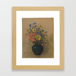 Odilon Redon - Wildflowers Framed Art Print