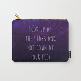 Look Up At The Stars Motivational Quote Carry-All Pouch
