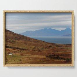 Scotland Argyll mountain landscape Serving Tray