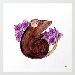 Chinese zodiac: Rat Art Print