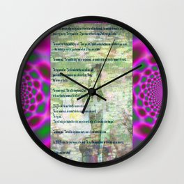 The 3 Wishes. (a post modern fairytale) Wall Clock
