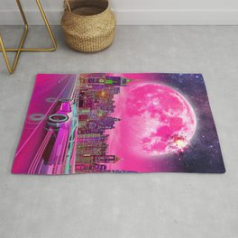 Synthwave Driver Rug