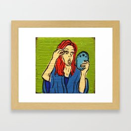 Applying Mascara like a pro Framed Art Print