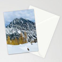 Scenic Landscape, Mt Stuart, Larches, Alpine Lakes Wilderness Stationery Cards