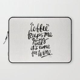 Coffee & Wine – Black Ink Laptop Sleeve