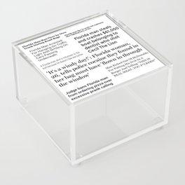 Florida People Acrylic Box