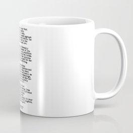 The Four Agreements #minimalist 3 Coffee Mug