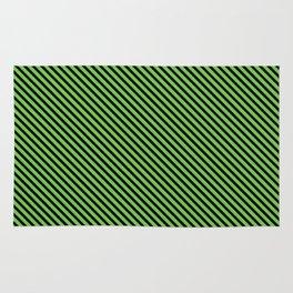 Green Flash and Black Stripe Rug