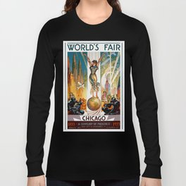 Vintage World's Fair Chicago IL 1933 Long Sleeve T-shirt