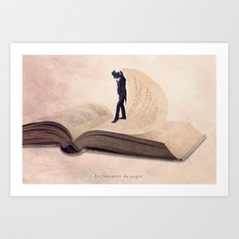 The page turner Art Print