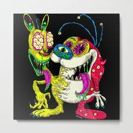 Monster Friends Metal Print