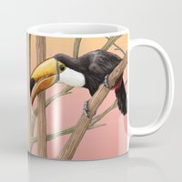 toucan Mugs featuring Toucan by Stephanie Sekula