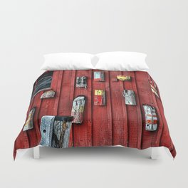 Red Wall Buoy Duvet Cover