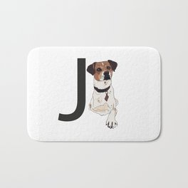 J is for Jack Russell Terrier Bath Mat