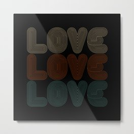 Simple and Elegant Retro Vintage Love Typography Metal Print