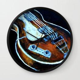 ~orignal Rachael Chatoor acrylic - bass on black~ Wall Clock