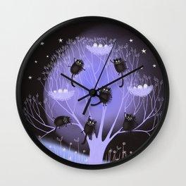 Liquorice Cats Wall Clock