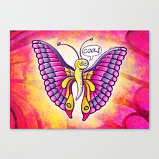 Coolorful Butterfly Canvas Print
