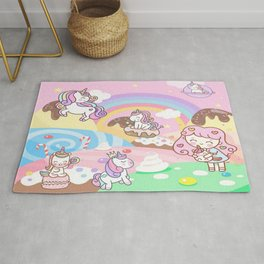 Unicorn Party in Candyland Rug