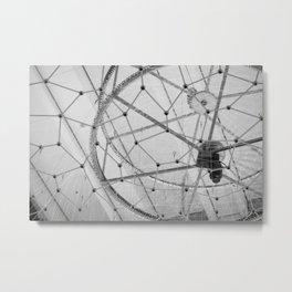 Strings Connected Metal Print