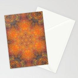 mandala 1 orange #mandala #orange Stationery Cards