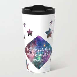 "ACOMAF ""To the stars who listen"" Quote Print Travel Mug"