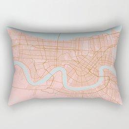 New Orleans map, Lousiana Rectangular Pillow