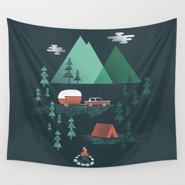 Pitch a Tent Wall Tapestry