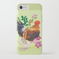 rooster iPhone & iPod Cases featuring rooster by Caracheng