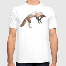 Jumping Fox Mens Fitted Tee White LARGE