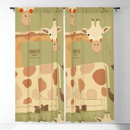 Giraffe, African Wildlife Blackout Curtain