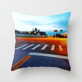 Beach Crossing Throw Pillow