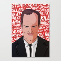 tarantino Canvas Prints featuring Tarantino by Happy Motion