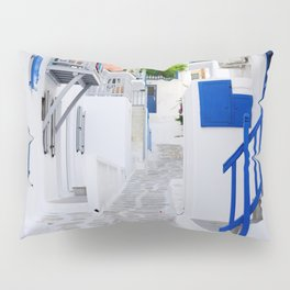 Beautiful Whitewashed Street Mykonos Greece Pillow Sham