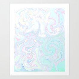 Pale Milkshake Art Print